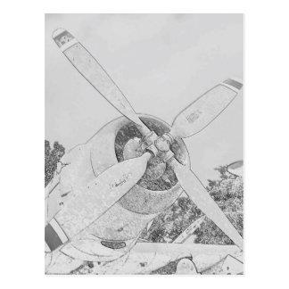 Postal Creyón-avión
