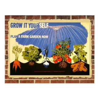 Postal Crezca su propio jardín - poster (la reimpresión