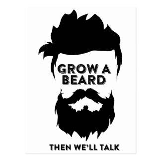 Postal Crezca una barba entonces que hablaremos