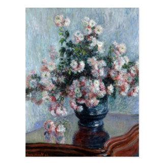 Postal Crisantemos - Claude Monet