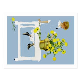 Postal Crisantemos Fadeaway de Coles Phillips