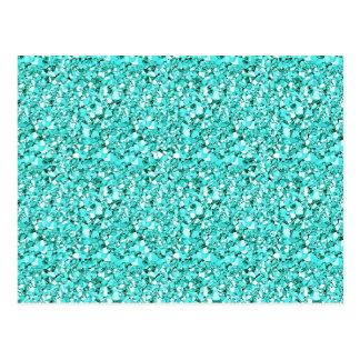 Postal Cristal de Druzy - azul de aquamarine