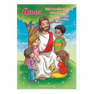 Postal Cristiana - Jesús y los niños