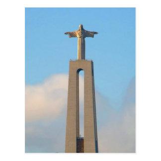 Postal Cristo en la colina en Lisboa