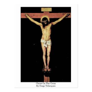Postal Cristo en la cruz de Diego Velázquez