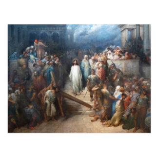 Postal Cristo que deja el Praetorium
