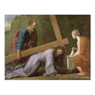 Postal Cristo que lleva la cruz, c.1651