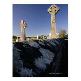 Postal Cruces célticas en un cementerio, Davacliff,