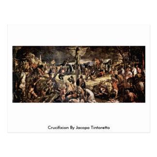 Postal Crucifixión de Jacopo Tintoretto