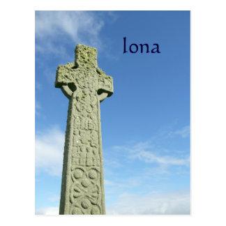 Postal Cruz céltica de Escocia de la abadía de Iona
