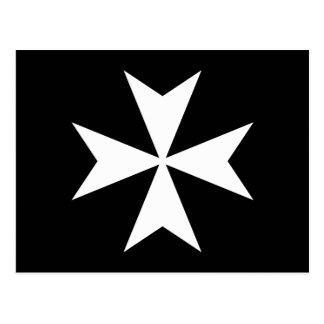 Postal Cruz maltesa blanca