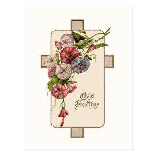 Postal cruzada de Pascua del vintage