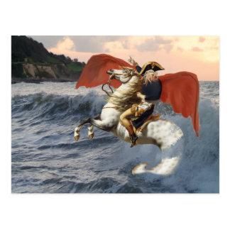Postal Cthulhu Bonaparte en la playa