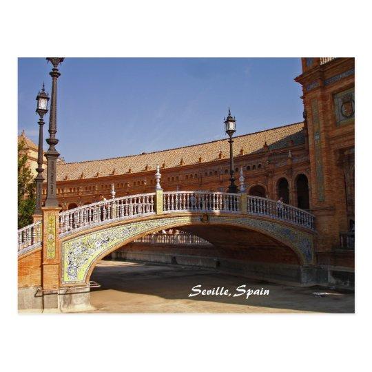 Postal cuadrada de Sevilla, España