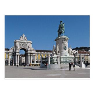 Postal Cuadrado del comercio de Lisboa