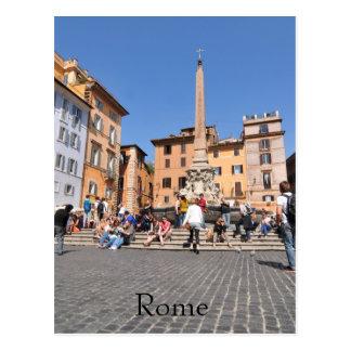 Postal Cuadrado en Roma, Italia