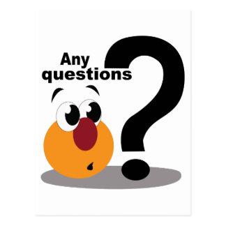 Postal Cuaesquiera preguntas