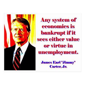Postal Cualquie sistema de economía - Jimmy Carter