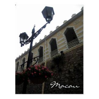 Postal cuarteles de Macao del moorish