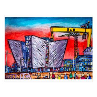 Postal Cuarto titánico vivo de Belfast