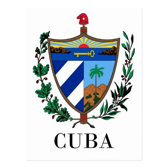 Postal CUBA - símbolo/escudo de