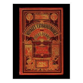 Postal Cubierta de libro extraordinaria de los viajes de
