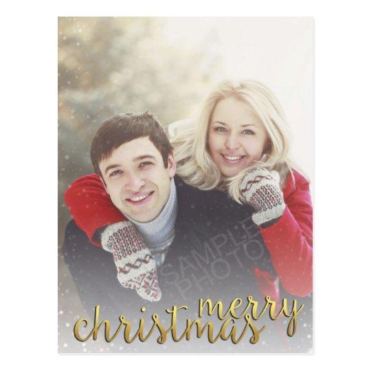 Postal cubierta nieve de las Felices Navidad