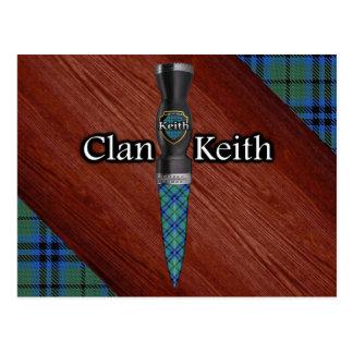 Postal Cuchilla de Sgian Dubh del tartán de Keith del