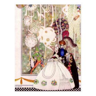 Postal Cuento de hadas del Bluebeard de Kay Nielsen