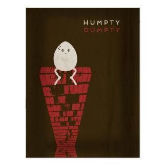 Postal Cuentos de hadas minimalistas el | Humpty Dumpty