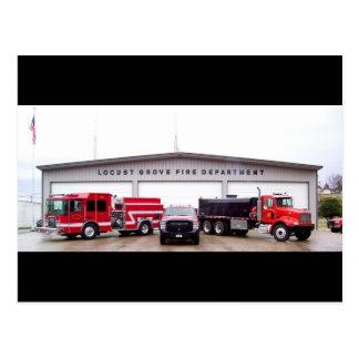 Postal Cuerpo de bomberos de la arboleda de la langosta -