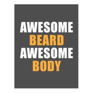 Postal Cuerpo impresionante de la barba impresionante