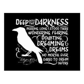Postal Cuervo (profundamente en esa oscuridad) por Edgar