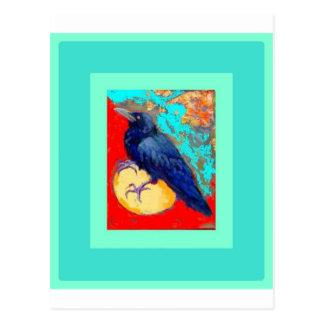 Postal Cuervo y huevo w/Turquoise del ébano por Sharles