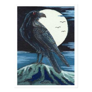 Postal Cuervo y la luna
