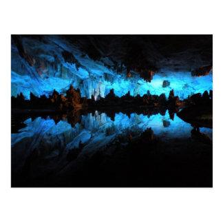 Postal Cueva de lámina de la flauta