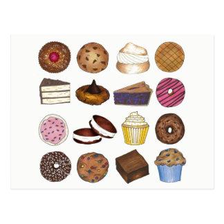 Postal Cueza la repostería y pastelería de la torta de la