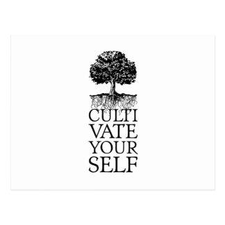 Postal Cultívese árbol y las raíces