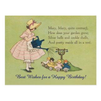 Postal Cumpleaños muy contrario de Maria Maria feliz