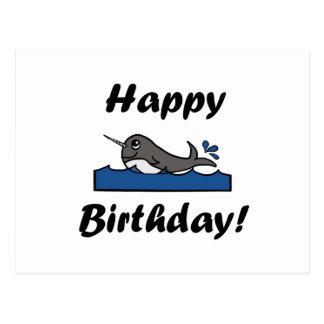 Postal Cumpleaños Narwhal