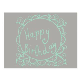 Postal Cumpleaños rústico