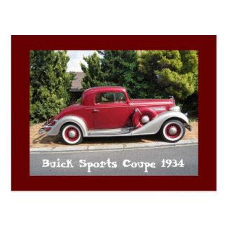 Postal Cupé 1934 de los deportes de Buick