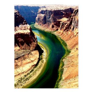Postal curva de herradura Arizona el río Colorado