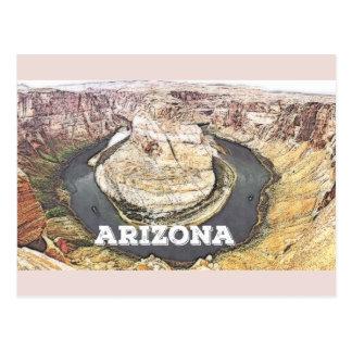 Postal Curva de herradura - Gran Cañón - Arizona