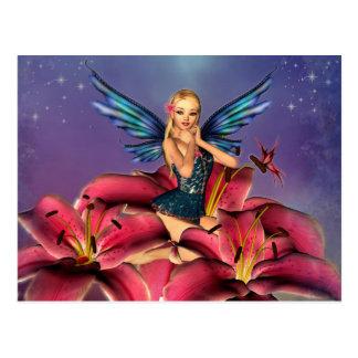 Postal Cute Fairy rubia