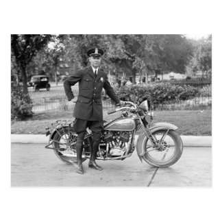 Postal D.C. Oficial de policía de la motocicleta, 1932
