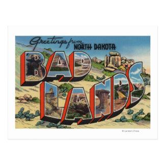 Postal Dakota del Norte - Badlands - escenas grandes de