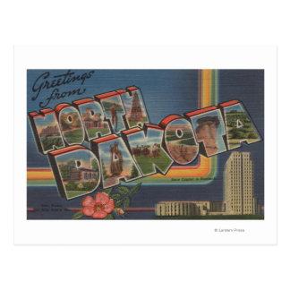 Postal Dakota del Norte (Capital del Estado/flor)