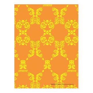 Postal Damasco naranja-amarillo