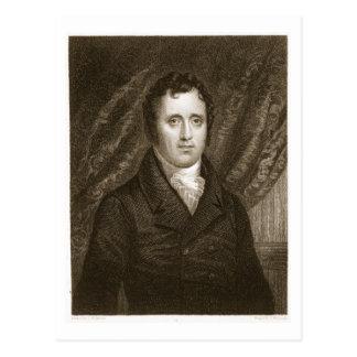 Postal Daniel D. Tompkins (1774-1825) grabado por Thomas